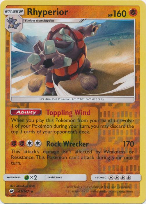 Rhyperior - 67/147 - Reverse Holo Rare