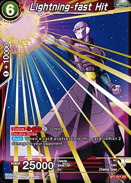 Lightning-fast Hit - BT1-011 - SR