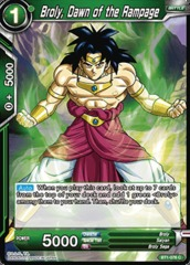 Broly, Dawn of the Rampage - BT1-076 - C on Channel Fireball