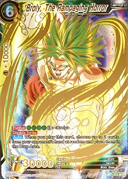 Broly, The Rampaging Horror - Special Rare - BT1-073 - SPR