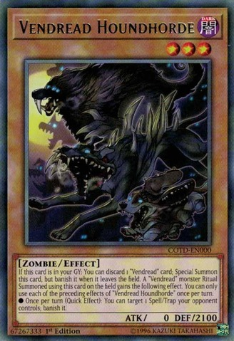 Vendread Houndhorde - COTD-EN000 - Rare - 1st Edition