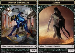 Proven Combatant // Zombie Double-sided Token