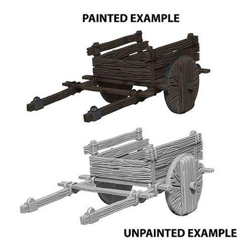 Deep Cuts Unpainted Minis - 2 Wheel Cart