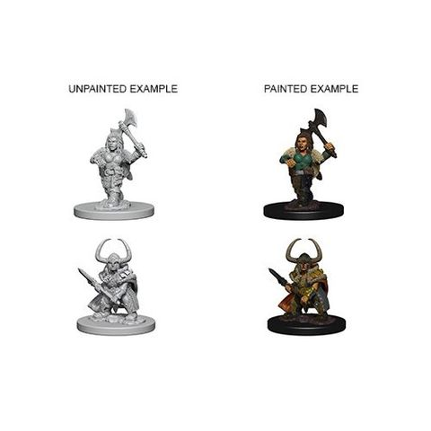 Nolzurs Marvelous Unpainted Miniatures - Dwarf Female Barbarian