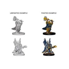 Dungeons And Dragons: Nolzur's Marvelous Unpainted Miniatures - Dwarf Male Paladin