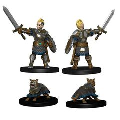 Wizkids Pre-Painted Miniatures: Boy Fighter And Battle Dog