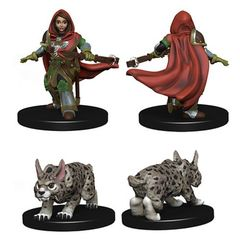 Wizkids Pre-Painted Miniatures: Girl Ranger And Lynx