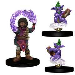Wardlings Miniatures: Girl Wizard And Genie