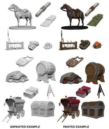 Dungeons And Dragons: Nolzur's Marvelous Unpainted Miniatures - Adventurer's Campsite