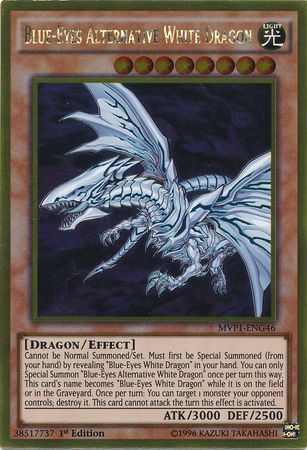 Blue-Eyes Alternative White Dragon - MVP1-ENG46 - Gold Rare
