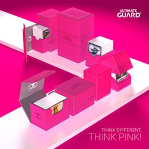 Ultimate Guard Twin FlipNTray Deck Case 160+ Standard Size Xenoskin Pink