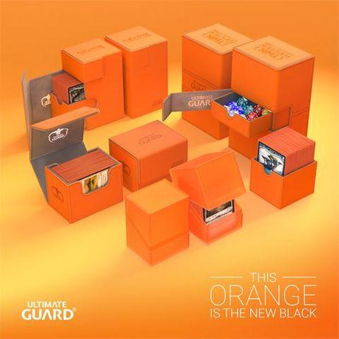 Ultimate Guard Twin Flip'N'Tray Deck Case 200+ Standard Size Xenoskin Orange