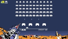 Turn One Playmat - Space Invaders Retro