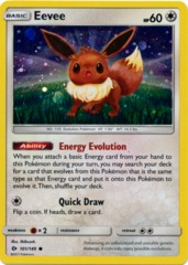 Eevee 101/149 Cosmos Holo Promo - Espeon & Umbreon GX Premium Collection