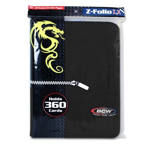 BCW Z-Folio 9 Pocket Lx Binder Black