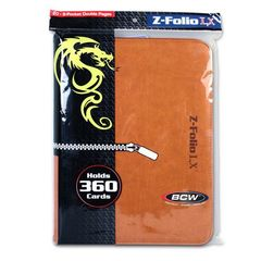 BCW Z-Folio 9 Pocket Lx Binder Orange