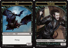 Bat (002) // Vampire (004) Double-sided Token