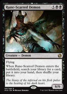 Rune-Scarred Demon - Foil