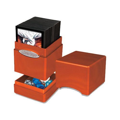 Ultra Pro Hi-Gloss Satin Deck Case Tower Pumpkin