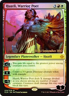 Huatli, Warrior Poet - Foil - Prerelease Promo
