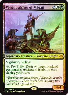Vona, Butcher of Magan - Foil - Prerelease Promo