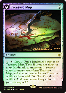 Treasure Map // Treasure Cove (Ixalan Prerelease Foil)