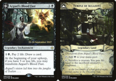 Arguel's Blood Fast // Temple of Aclazotz - Foil - Prerelease Promo