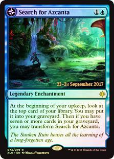 Search for Azcanta // Azcanta, the Sunken Ruin (Ixalan Prerelease Foil)