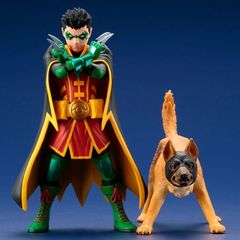 Artfx+ Statue: Dc Comics: Supersons - Robin And Bat-Hound 2-Pack