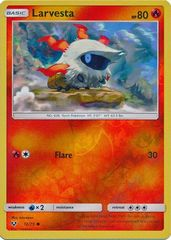 Larvesta - 12/73 - Common - Reverse Holo on Channel Fireball