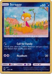 Scraggy - 50/73 - Common - Reverse Holo