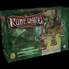Runewars Miniatures Game: Latari Elves Infantry Command Unit Expansion