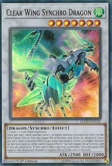 Clear Wing Synchro Dragon - LEDD-ENC29 - Ultra Rare - 1st Edition on Channel Fireball