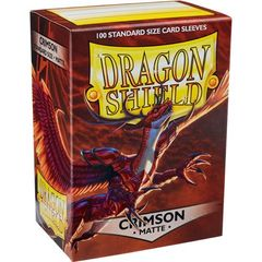 Dragon Shield - Matte Crimson 100 Count Standard Sleeves