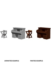 Wizkids Unpainted Mini - Desk N Chair