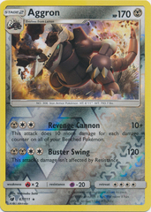 Aggron - 67/111 - Holo Rare - Reverse Holo on Channel Fireball