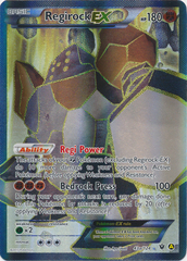 Regirock-EX (Alt Art) - 43a/124 - Premium Trainer's XY Collection