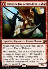 Chandra, Fire of Kaladesh // Chandra, Roaring Flame - Foil on Channel Fireball