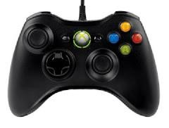 Black Xbox 360 Wired Controller