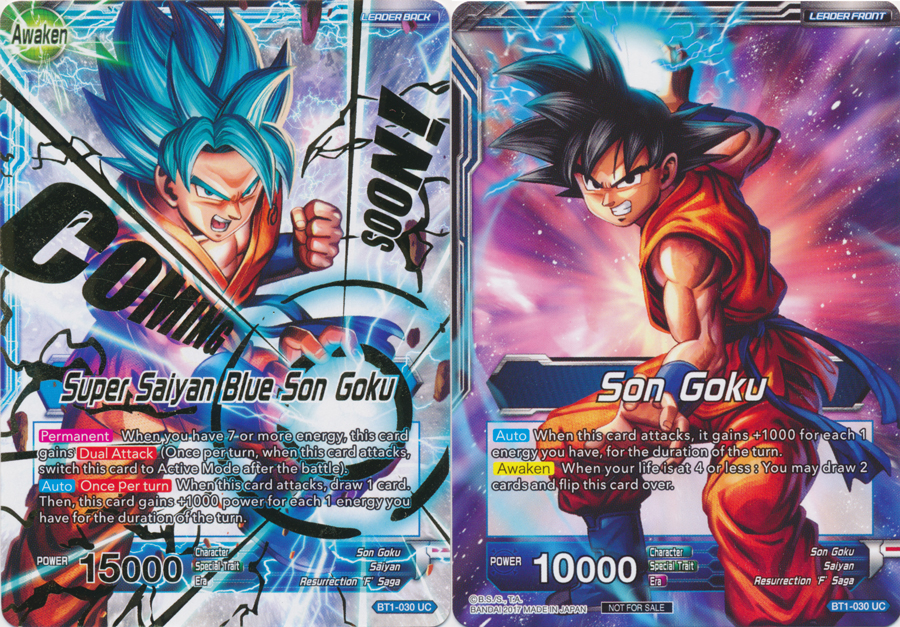 Son Goku Super Saiyan Blue Son Goku Hot Stamped Bt1