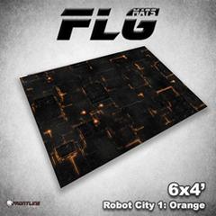 Flg Mats Robot City Orange 4X6