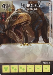 Allosaurus - Lesser Beast (Die and Card Combo)