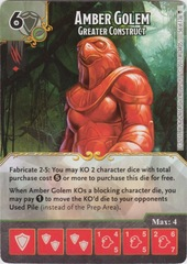 Amber Golem - Greater Construct (Die and Card Combo)