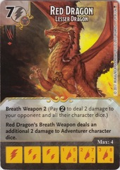 Red Dragon - Lesser Dragon (Die and Card Combo)