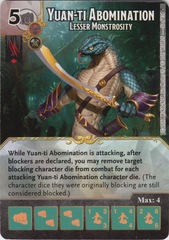 Yuan-Ti Abomination - Lesser Monstrosity (Die and Card Combo)