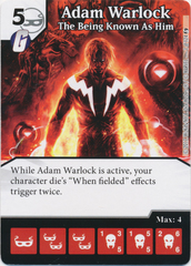 Adam Warlock - The Being Known As Him (Die and Card Combo)