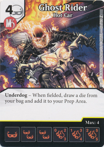 Ghost Rider - Hot Car (Die and Card Combo)