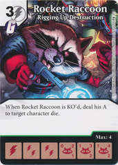 Rocket Raccoon - Rigging Up Destruction (Die and Card Combo)