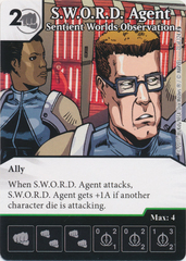 S.W.O.R.D. Agent - Sentient Worlds Observation (Card and Die Combo) Foil