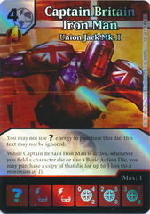 Captain Britain Iron Man - Union Jack Mk. I (Die and Card Combo)